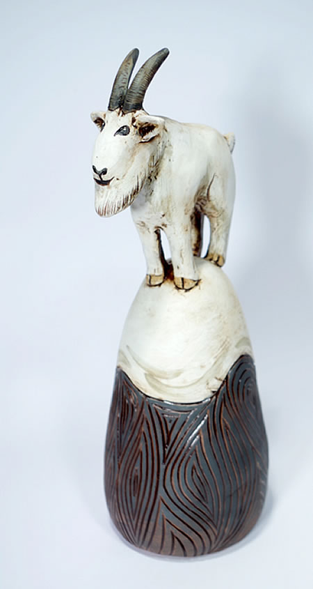 Annette ten Cate - Mountain Goat on a Mountain - ceramics