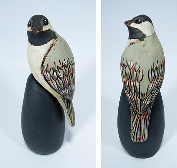 Annette ten Cate - Single Chickadee - ceramics