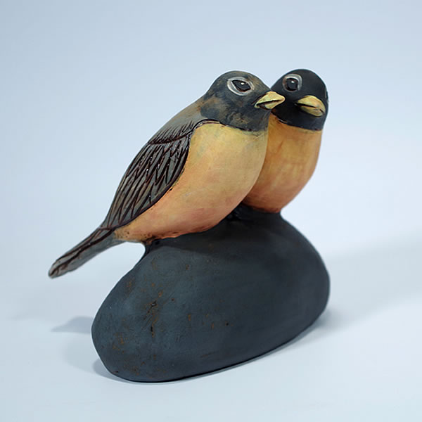 Annette ten Cate - Two Robins - ceramics