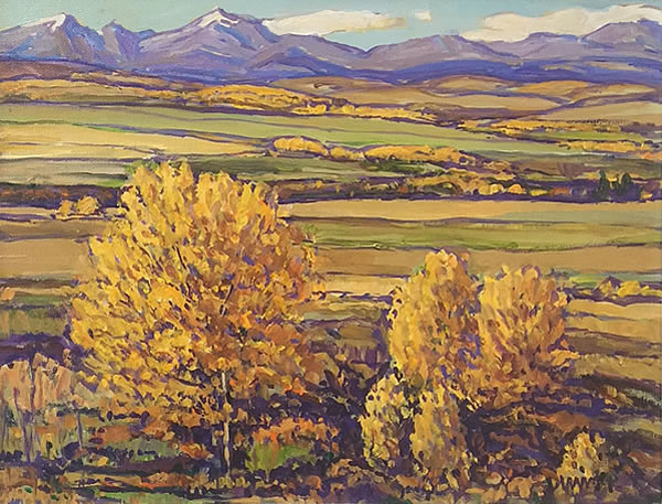 Bill Duma - Across the Valley - 12x16in oil on canvas