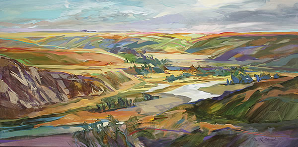 Brent Laycock - Summertime Coulee - 24x48in acrylic