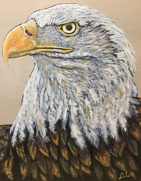 Danin Lawrence - Bald Eagle - 16x20in acrylic on canvas