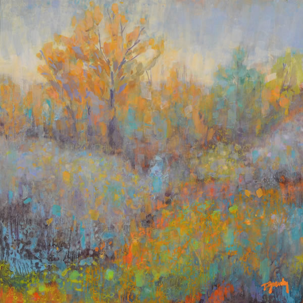Diana Zasadny - River Valley Palette - 12x12in acrylic on canvas