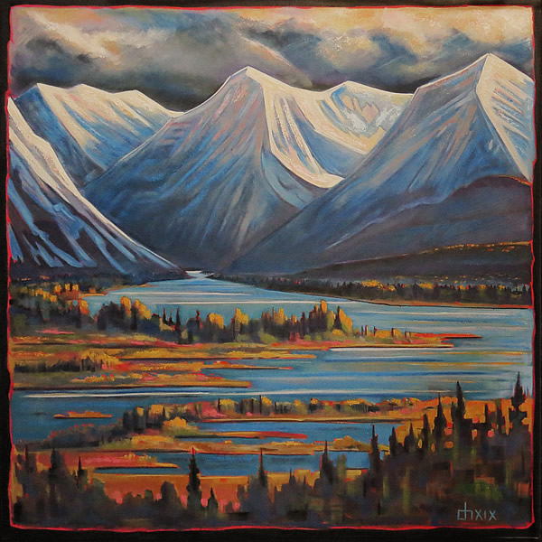 Don Hamm - Change of Season - 40x40in oil on canvas