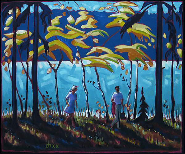 Don Hamm - Path Beside The Lake - oil on canvas