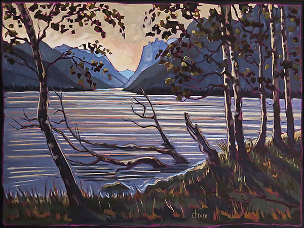 Don Hamm - Waterton Mood—Becalmed - oil on canvas