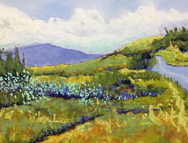 Jean Sheppard - Foothills Valley - 9x12in pastel