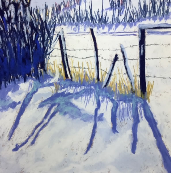 Jean Sheppard - Winter Shadows - 9.5x9.5in pastel