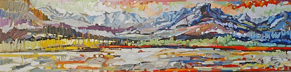 Maryanne Jespersen - Brighter Days - 12x48in oil on canvas
