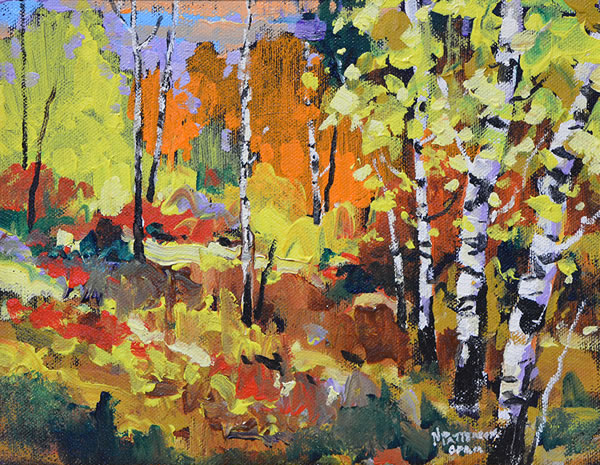 Neil Patterson - Colours In The Sunshine - 8x10 oil