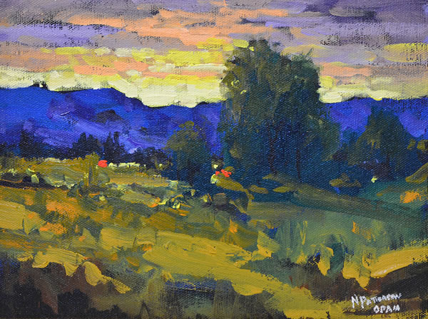 Neil Patterson - Nestled In The Foothills - 8x10 oil
