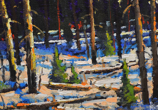 Neil Patterson - Winter In The Woods - 8x10 oil