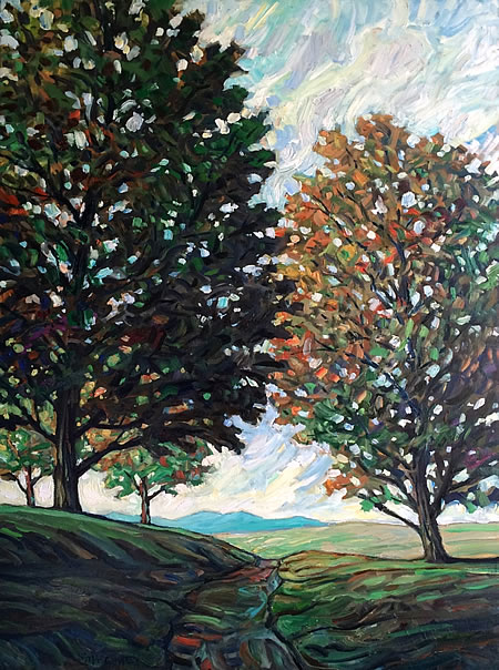Steve Coffey - Tree Trail - 30x40in oil on canvas